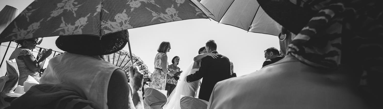 happy bridal couple in Italy