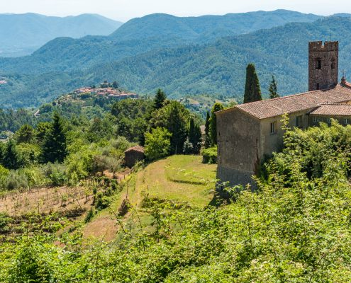 Italy, Tuscany, Gombitelli, Apuan alps and camaiore hiking