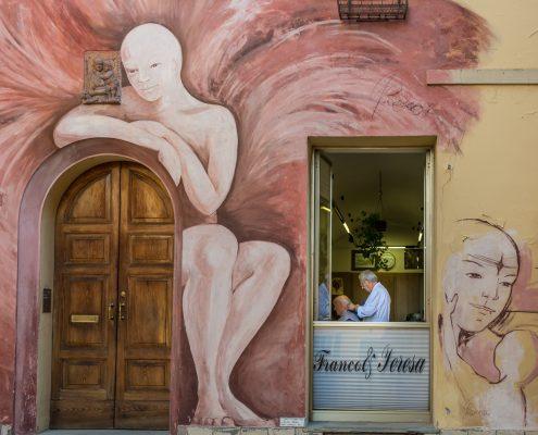 europe, Italy, Emilia-Romagna. a street scene in Dozza