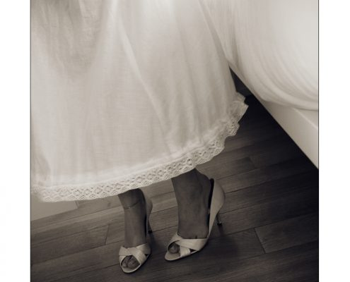 wedding in Italy - shoes of the bride
