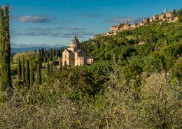 Italy, Montepulciano, beautiful ancient town in southern Tuscany