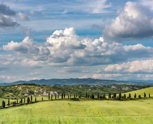 Italy, Crete Senesi, tuscan landscape close to Siena