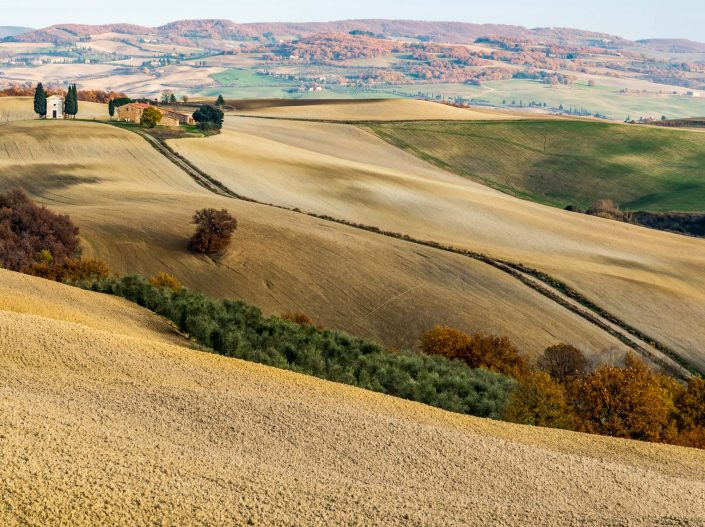 Val D'Orcia in southern Tuscany, Unesco Worldheritage site with beautiful sceneries