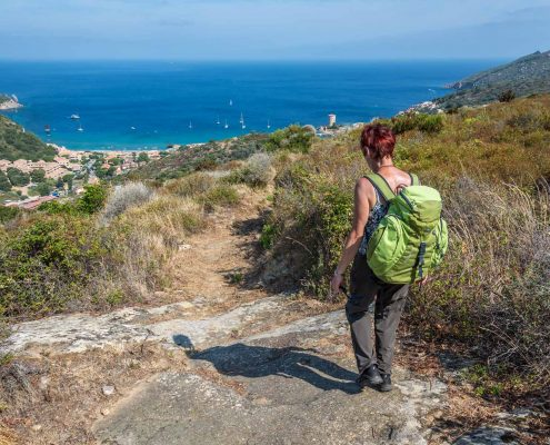 Italy, Tuscany, hiking on the Island Giglio