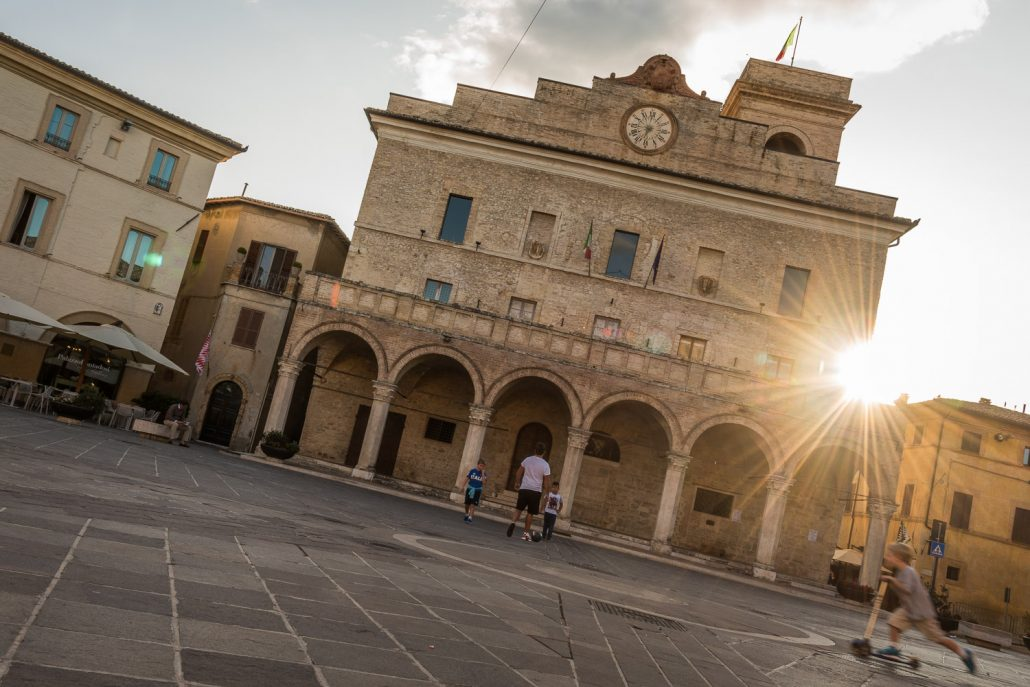 Montefalco at sunset
