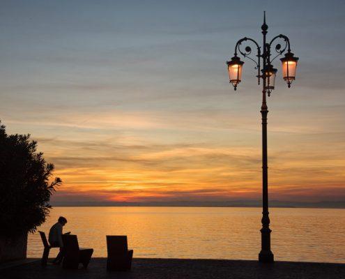 Sunset on the Lake Garda- Veneto- Italy