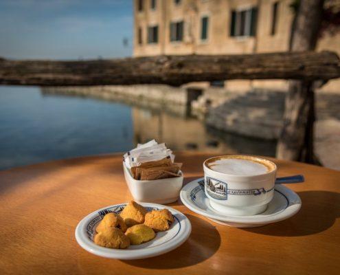 Italian breakfast in Veneto, Italy