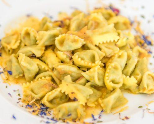 Homemade Ravioli del Plin, a specialty of Piedmont- Italy