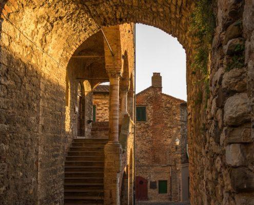 Suvereto, old town in Maremma- Tuscany-Italy