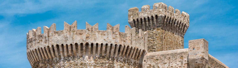 The Populonia fortress- Maremma- Tuscany- Italy