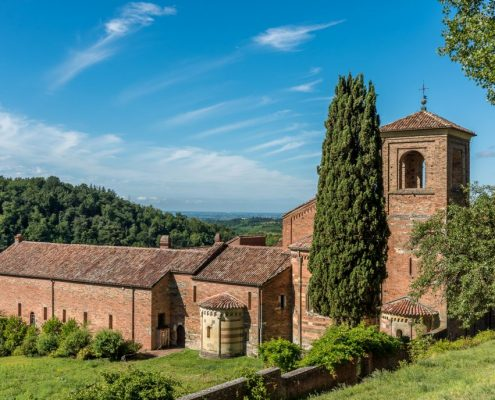 the ancient abbey of Vezzolano, the most important Romanesque building in Piedmont- Italy