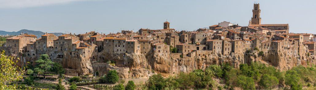 Pitigliano, tufa town in the Maremma- Tuscany- Italy