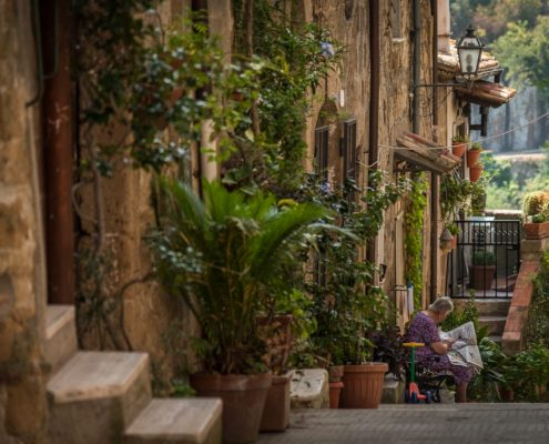 Pitigliano, ancient town in Maremma- Tuscany- Italy